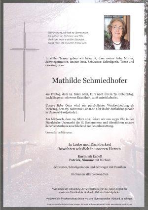 Portrait von Mathilde Schmiedhofer
