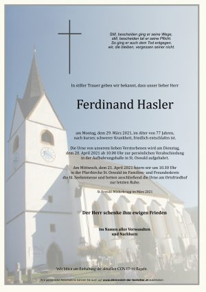 Portrait von Ferdinand Hasler