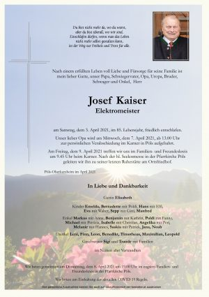 Portrait von Josef Kaiser