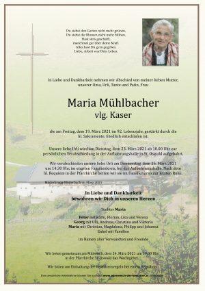 Portrait von Maria Mühlbacher vlg. Kaser